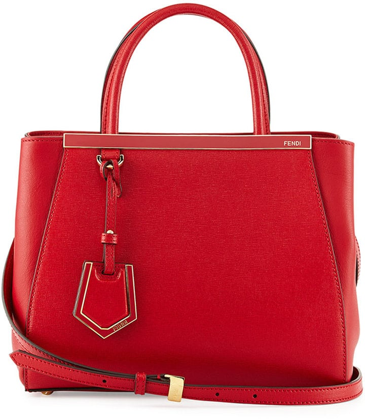 Fendi 2Jours Mini Shopping Tote, Red ($1,950)