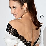 Olga Kurylenko upgraded her updo with twists on each side for the Oblivion red carpet.