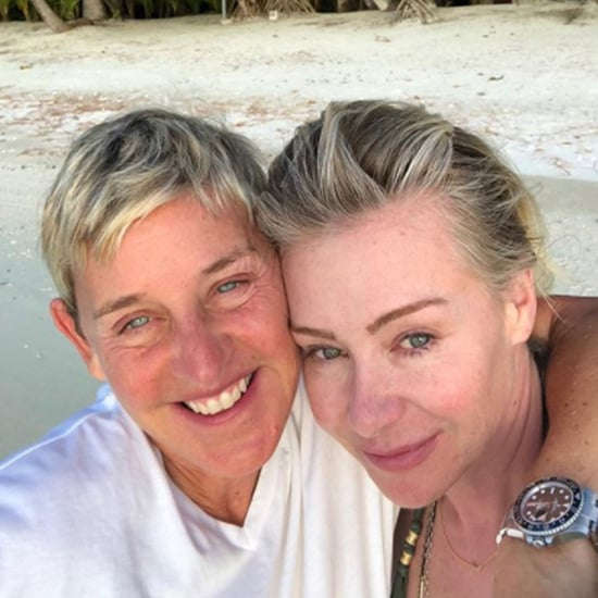 Ellen DeGeneres and Portia de Rossi No-Makeup Selfie