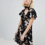 New Look Floral Ruffle Tea Dress