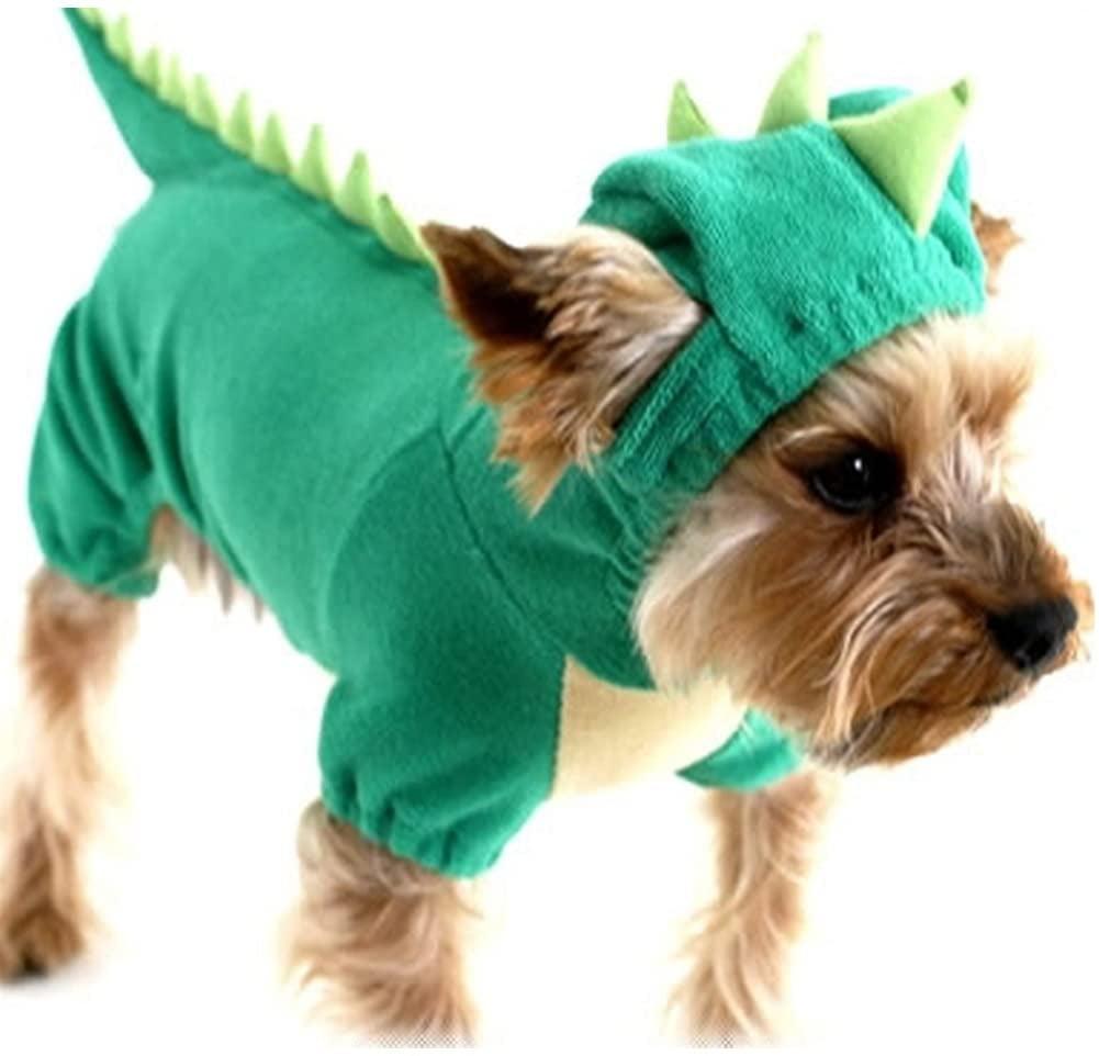 Nacoco Dog Dinosaur Design Costume Green Pet Clothes For Medium & Large Dog