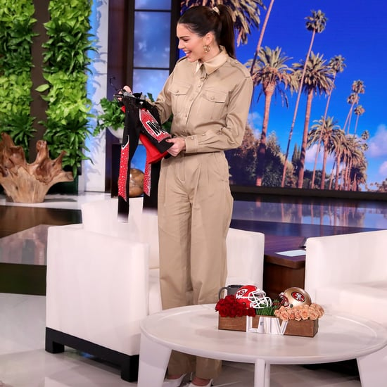 Kendall Jenner Wearing a Navarro Cheer Crop Top on Ellen
