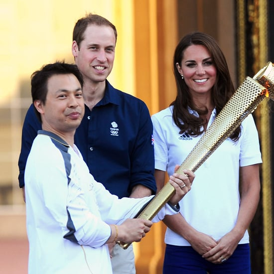 Kate Middleton and Prince William With Olympic Torch (Video)