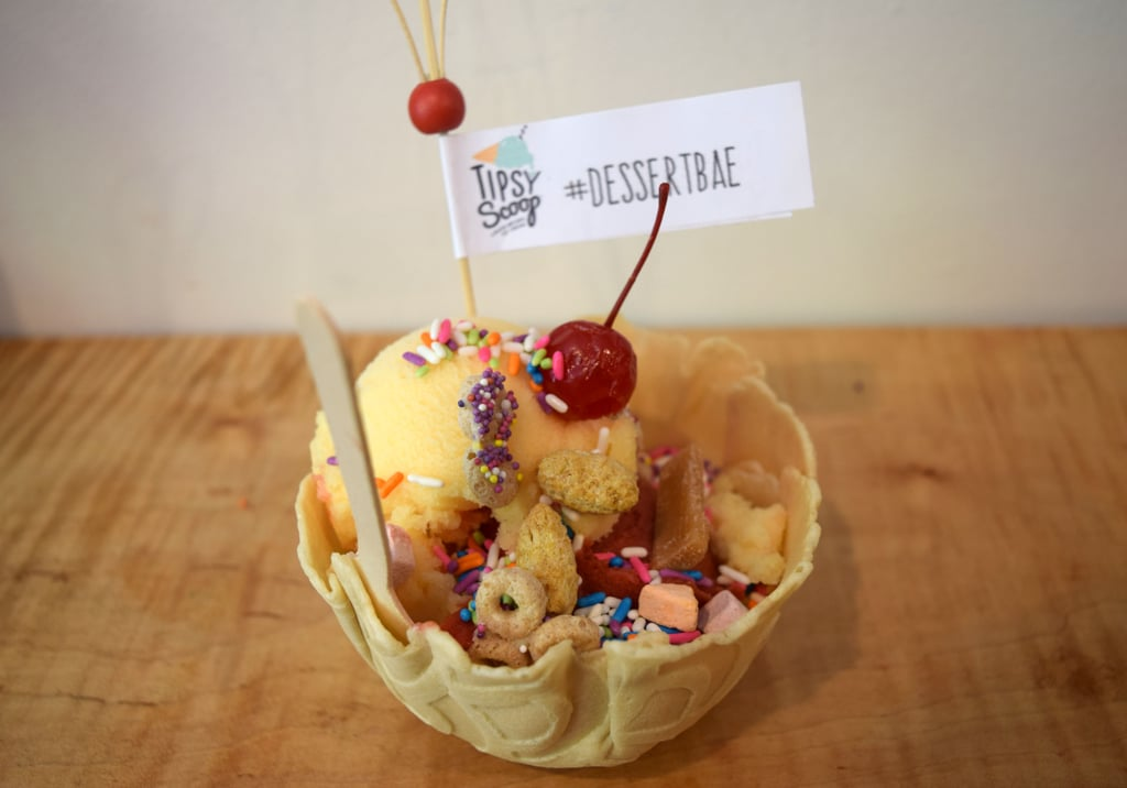 You can get your ice cream in a waffle bowl