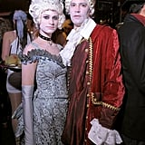 Model Julie Henderson wore and 18th Century, Marie Antoinette-inspired costume to Heidi Klum's Halloween party in 2010.