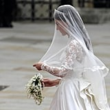 Close-Ups of Kate Middleton's Alexander McQueen Wedding Dress by Sarah Burton
