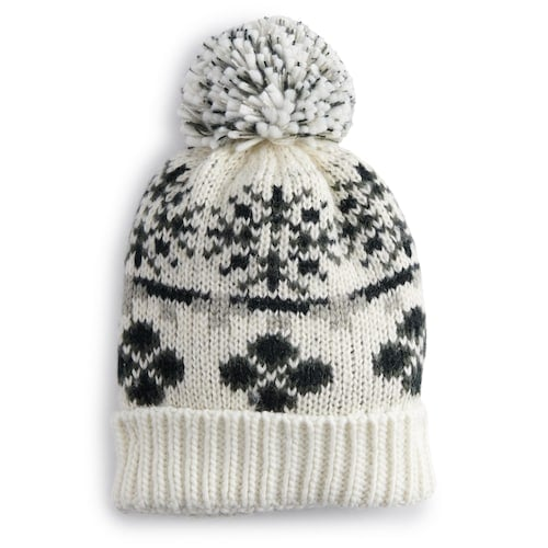 Women's SONOMA Goods for Life™ Fair Isle Pom Beanie