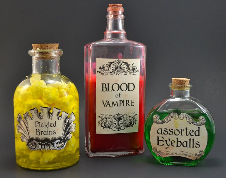 Creepy Halloween Apothecary Jars