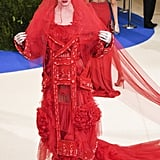 Katy Perry in John Galliano for Maison Margiela as . . .
