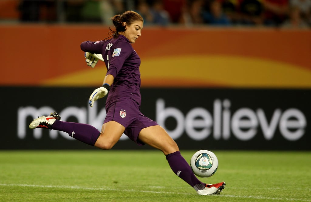 """Hope filed her own equal pay lawsuit against US Soccer in August 2018, six months before her former teammates would file their own. She has largely carved out her own path in pursuing action against US Soccer, and while she told us she will automatically be part of the class-action suit, she is still determined to do things on her own terms — which could mean opting out of the class action.  """"If there's a settlement, it doesn't change the law. It's admitting there are inadequacies in US Soccer, and it's a good step for US soccer, but it's not a great step for women overall,"""" Hope said. """"And so, for me, who knows what's going to happen? I might be stuck in court for another couple of years, or I might be part of the class action. I have no idea."""" We asked if Hope could envision a scenario in which she'd agree to settle with US Soccer rather than battle it out in court. """"That's what I've said all along — that I can't imagine [settling]. We got into this fight to change everything for future generations. It wasn't supposed to be about us. It wasn't supposed to be about us getting money, it wasn't supposed to be about us getting notoriety,"""" she said. """"It was supposed to be about changing things for the future generations. So the only way we can do it is not by putting money in our pockets, but by continuing in this really ugly battle. Reading boring documents, this really long fight in federal court . . . that's the way to do it."""""""