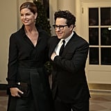 Film producer and director J.J. Abrams and Katie McGrath made their arrivals.