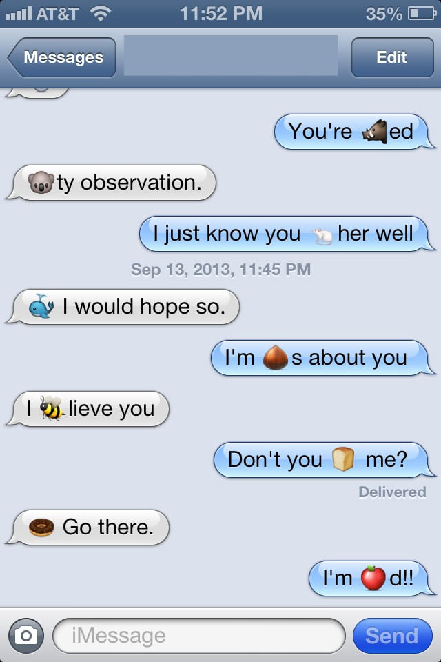 Aninimal Book: Clever, these two | Funny Emoji Texts | POPSUGAR ...