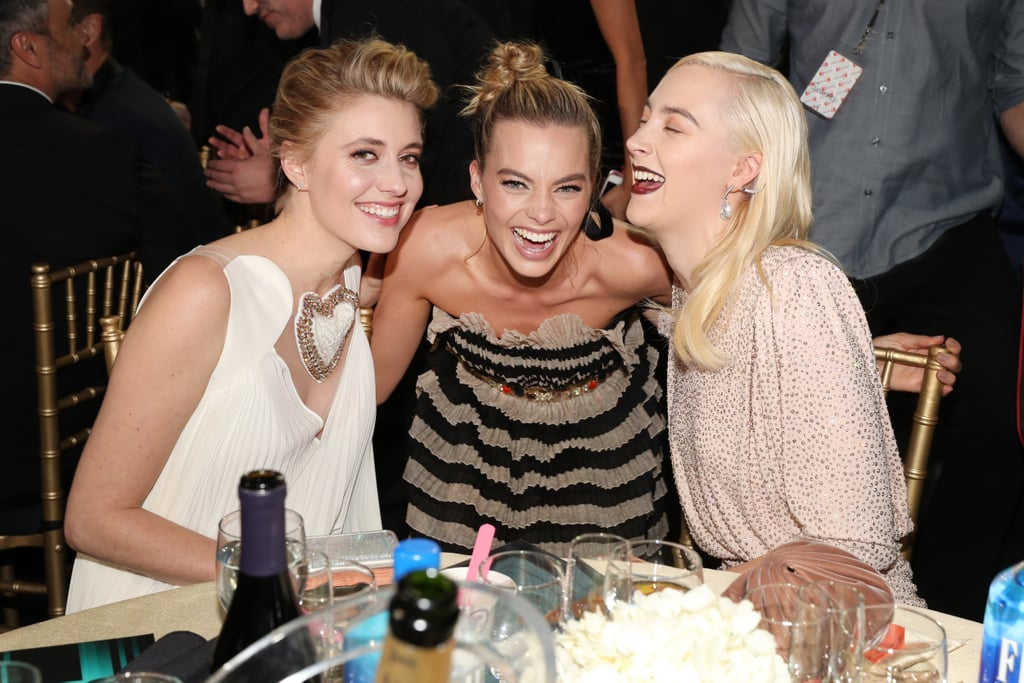 Pictured: Greta Gerwig, Margot Robbie, and Saoirse Ronan