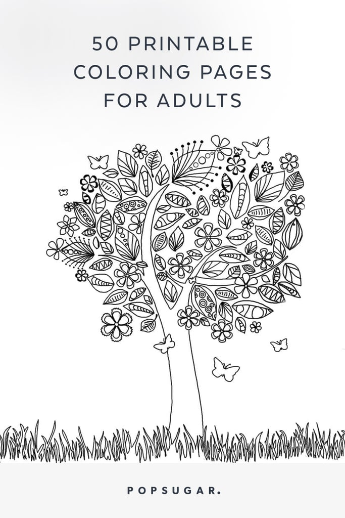 - Free Printable Adult Coloring Pages POPSUGAR Smart Living