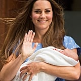 The world got its first glimpse of the royal baby as Kate Middleton stepped out of the Lindo Wing at St. Mary's Hospital with Prince George Alexander Louis in her arms back in July. Kate's beauty team was on hand to ensure that she was camera ready when she and Prince William presented their baby prince.