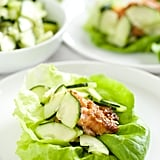 Miso Salmon Lettuce Wraps With Wasabi Cucumbers