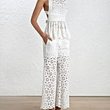 Zimmermann Roza Broderie Pants ($350) and Open Back top ($415)