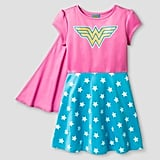 Girls' Wonder Woman Dress with Cape