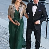 Princess Madeleine and husband, Christopher O'Neill, arrived at a dinner to honor King Carl Gustaf's 40th jubilee in Stockholm.