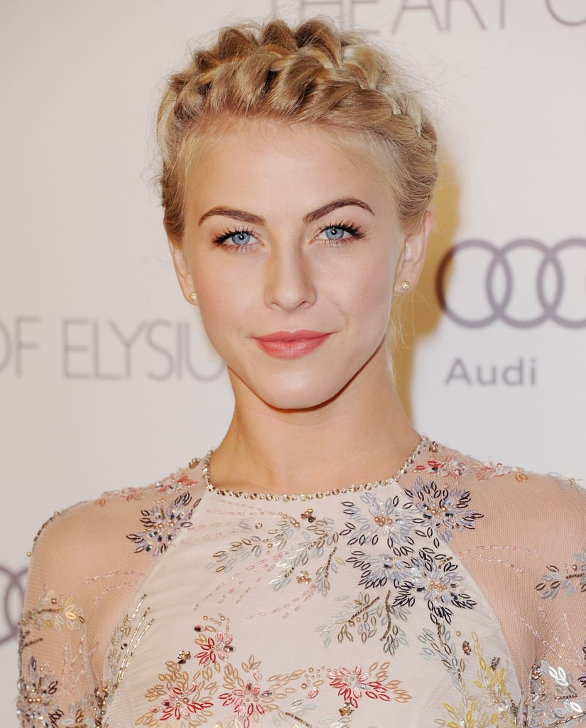 Julianne Hough, here at the sixth annual Heaven Gala, shows that even women with shorter hair can rock some pretty plaits.