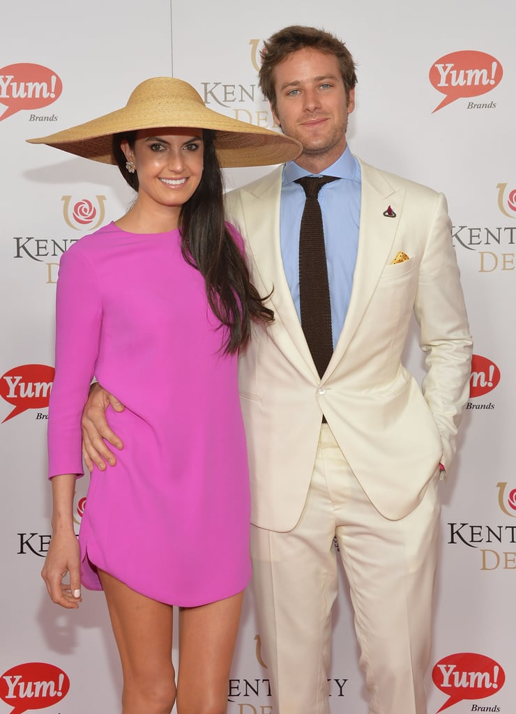 Armie Hammer and his wife, Elizabeth Chambers, didn't let the rain ruin their Saturday at the races.