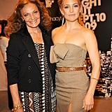 Kate Hudson posed with Diane von Furstenberg at the Vogue pop-up boutique at Macy's in 2009.