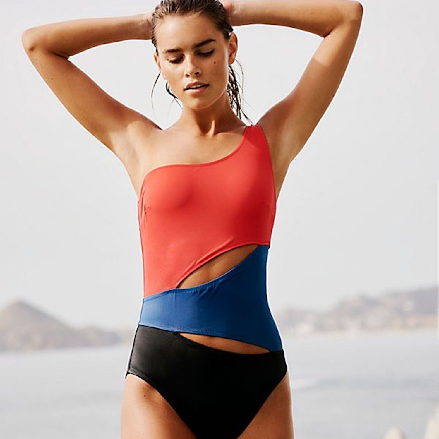 41f650a44169f aerie Wraparound One Piece Swimsuit