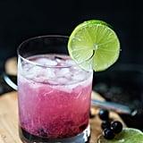 Virgin Blueberry Mojito Mocktail