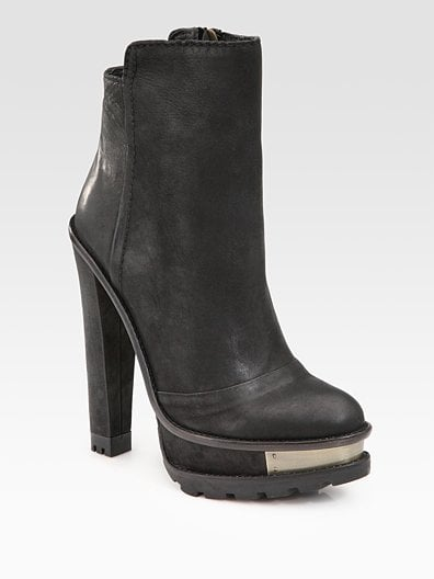 Taurasa Leather Lug-Sole Ankle Boots ($550)