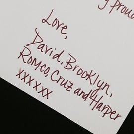 Victoria Beckham's Card From David Beckham and Their Kids