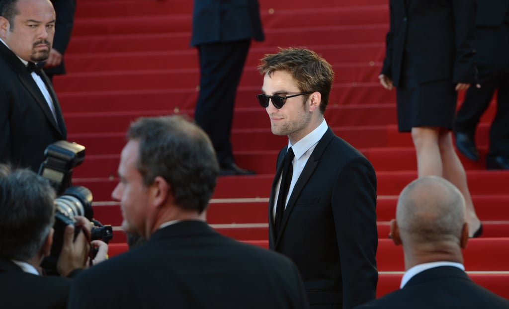 Robert Pattinson posed for pictures at the On the Road premiere at the Cannes Film Festival.
