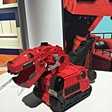 This supercool DinoTrux RC communicates with its remote control — named Rev It — to play hide-and-seek (your child can place Rev It up to eight feet away to be found), have dance parties, or to follow the leader (your child can walk around with Rev It and the DinoTrux will follow both of them!).