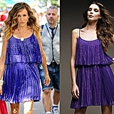 A while back, we found Carrie Bradshaw's Electric Blue Halston Heritage Frock. It's still available to purchase now!