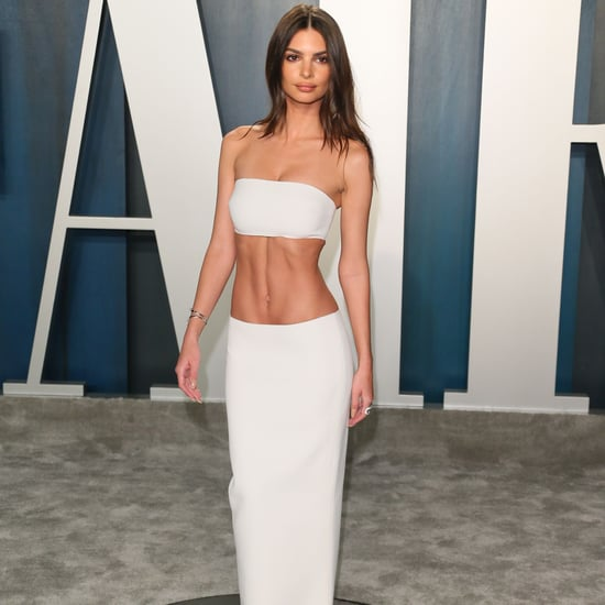 Emily Ratajkowski's Gown at Vanity Fair Oscars Party 2020