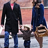 Matthew McConaughey and Camila Alves strolled through SoHo with Levi in March 2010.