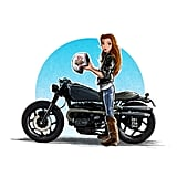 Belle on a Motorcycle
