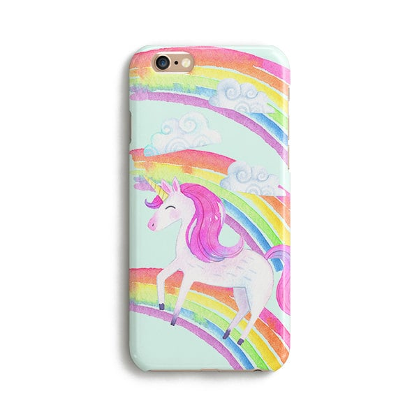 Unicorn Watercolor Rainbow Phone Case ($16)