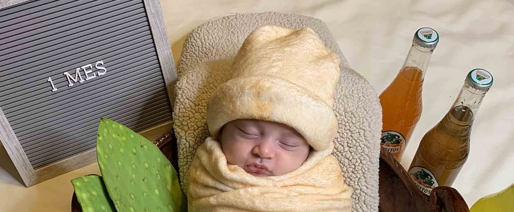 Mum Dresses 1-Month-Old Baby Up as a Burrito