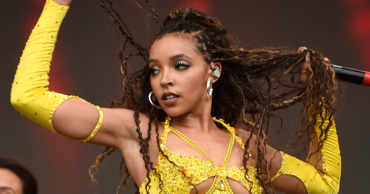 Tinashe Sizzled on Stage at MIA Festival in a Butter-Yellow Leotard Speckled With Rhinestones.jpg