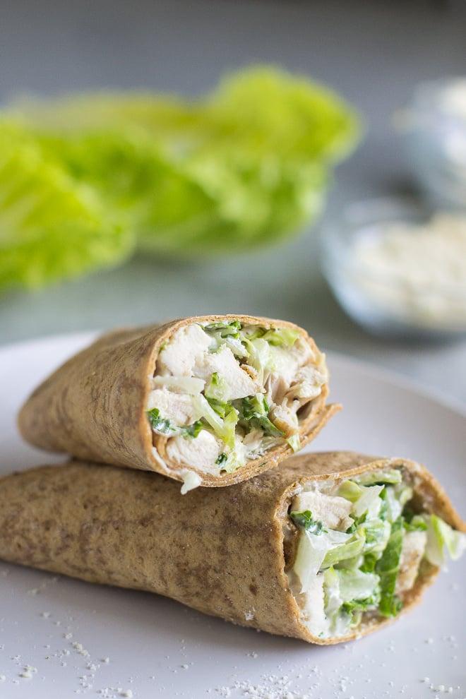 Grilled Chicken Caesar Wraps Cold School Lunch Ideas Popsugar Family Photo 6