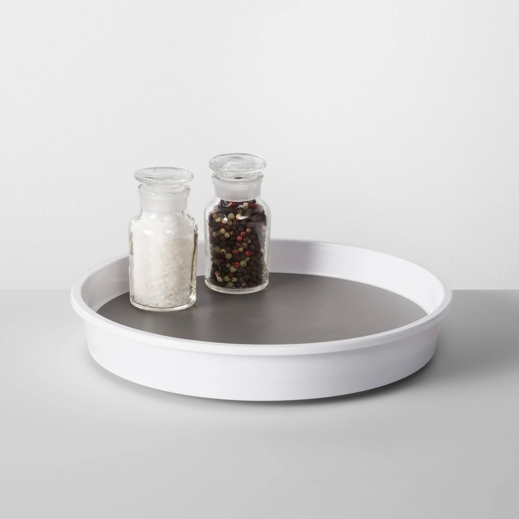 Organization For Kitchen Cabinets: Kitchen Cabinet Turntable In White