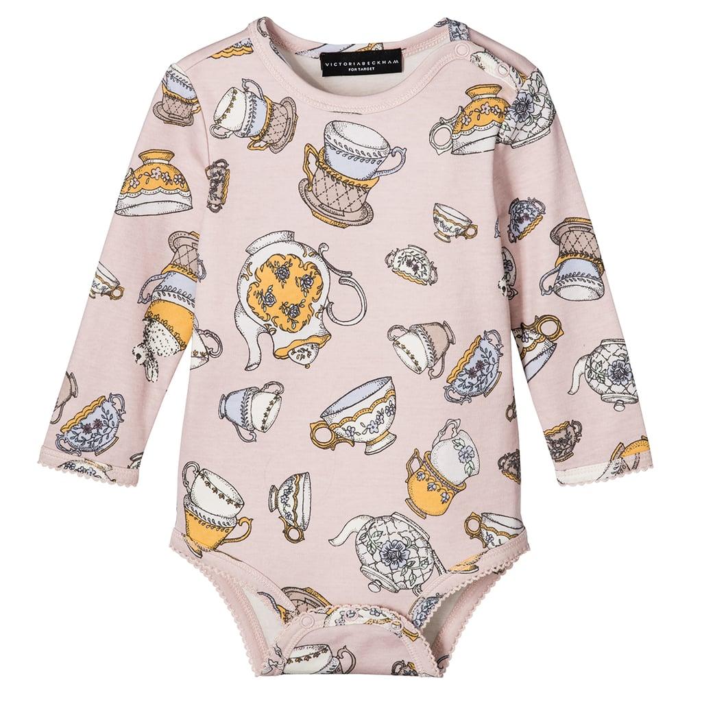 Baby Blush Tea Party Printed Bodysuit ($13)