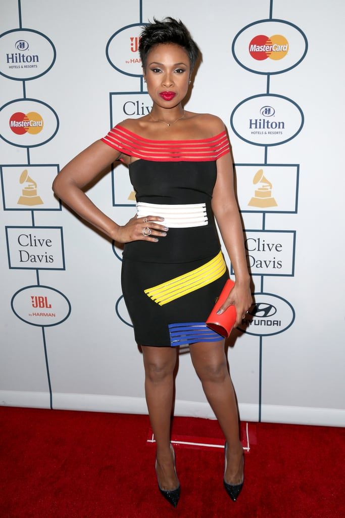 Jennifer Hudson looked fresh-faced.