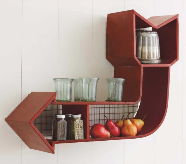 When it comes to retro decor, nearly anything goes in a hipster home,  but this arrow shelf ($189) is both stylish and practical.