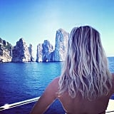 Reese gave us major beach-hair envy when she posed on vacation.