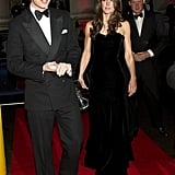 Shortly after her wedding, Kate attended the Sun Military Awards in a similar formfitting, strapless black floor-length gown by Alexander McQueen.