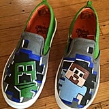 Minecraft Hand Painted Shoes