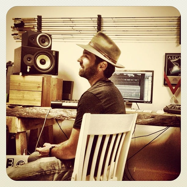 Josh Kelley got to work on his upcoming album.  Source: Instagram user joshbkelley