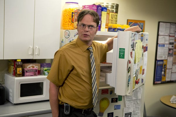Dwight is unsure about the freezer.