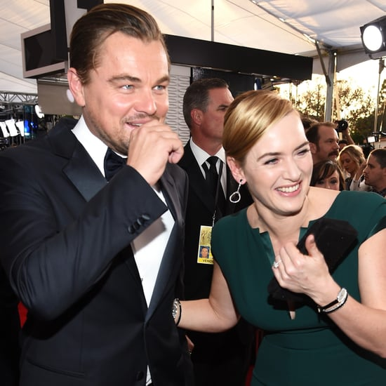 Kate Winslet and Leonardo DiCaprio at the SAG Awards 2016
